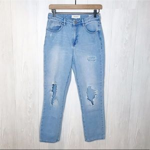 "PacSun | ""Mom Jean"" Distressed Crop Denim Sz. 26"